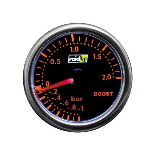 Raid HP 660250 Ladedruckanzeige, Zusatzinstrument Night Flight Rot