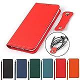 Eastwave iPhone X/XS 通用ケース iPhoneX iPhoneXS 手帳型 アイフォンiPhone XS X ケース財布型 カバー 本革 柔らかい 本皮 高質 スプラットホール付き スプラット同梱 内蔵マグネット -ブラック -レッド