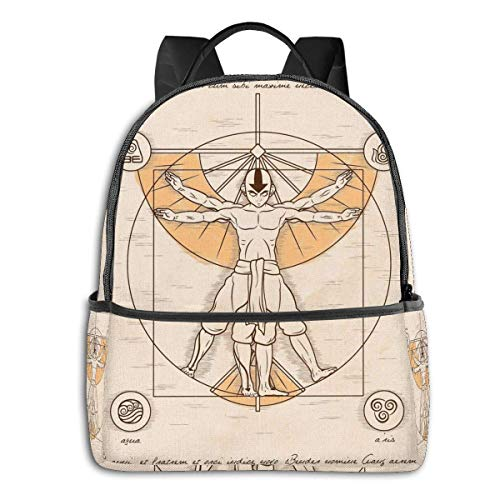 XCNGG Vitruvian Aang Student School Bag School Cycling Leisure Travel Camping Outdoor Backpack