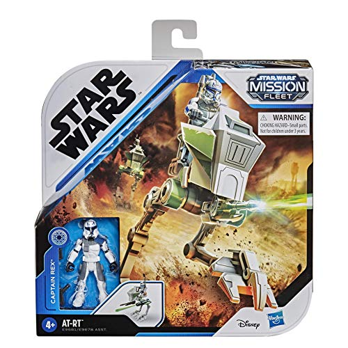 Star Wars Mission Fleet Expedition Class Captain Rex Clone Combat 6-cm-Scale Figure and Vehicle, Toys for Children Aged 4 and Up