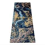 Yoga Design Lab Combo Yogamatte 3,5mm | rutschfest, Matte/Handtuch, Guter Halt bei viel Schweiß, Naturkautschuk | mit Tragegurt (Origins)