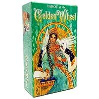 Golden Wheel EGuideブック付きの完全英語版のタロットデッキEinstructionカードゲーム占いゲームは運命予測カードゲームを設定します