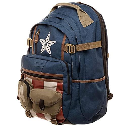PRETAY Marvel Avengers Captain America Zaino Captain America School Bag per Scuola e Tempo Libero Perfetto per Scuola e Tempo Libero Sorpresa Zaino Borsa per Computer Thor Hulk