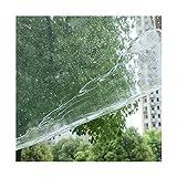 Bâche Transparente en Verre avec Oeillets Épaississement Transparent Tissu en Plastique Résistant À La Pluie,La Taille Peut Être Personnalisée (Color : Transparent(0.3mm), Size : 1.8x3m)