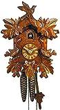 Alemán Reloj de cuco - mecanismo con cuerda para 1 día - tallado en madera - 26 cm...