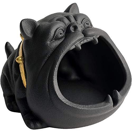 Z-GJM Schattige karikatuur hond asbak creatieve persoonlijkheid trend auto winddichte vliegen keramiek grote asbak schattige dieren ontwerp snijtanden gesneden sigar A