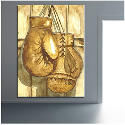 xiongda Pop Art Wanddekoration Boxhandschuhe Wandbilder für Wohnzimmer Büro Poster und Drucke Home Decor / 50X70cm-No Frame