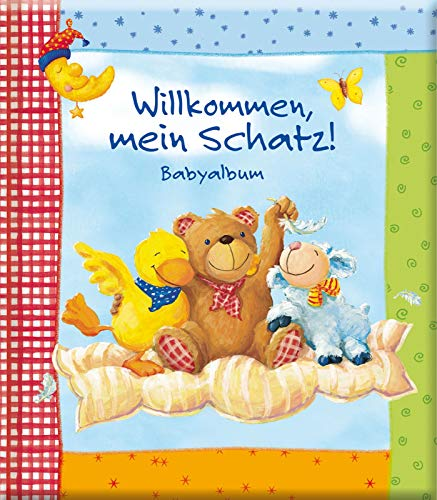Willkommen, mein Schatz! Babyalbum: Eintragbuch für die wichtigsten Ereignisse mit viel Platz für Fotos, Geschenk zur Geburt