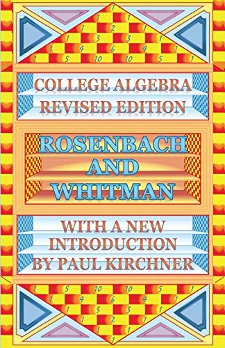 College Algebra by Rosenbach
