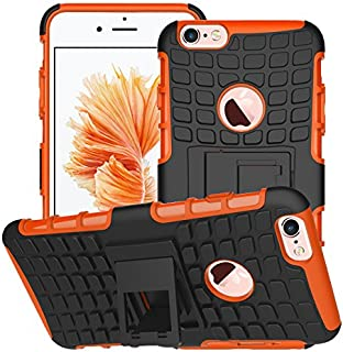 iPhone 6/ 6S Plus Armor Case, VPR Premium Dual Layer Protection Case with Kickstand Hard PC Cover + TPU Silicone Hybrid Shock Absorption Anti-Scratch Protective Fit For iPhone 6/ 6S Plus (Orange)