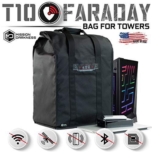 Mission Darkness T10 Faraday Bag for Computer Towers & XL Electronics // Device Shielding for...
