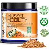 MUSSEL MOBILITY Green Lipped Mussel & Turmeric Anti-Inflammatory - Hip & Joint Supplement for Dogs and Cats - 100% Natural - Arthritis Pain Relief - Natural Glucosamine - Boosts Energy & Flexibility