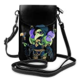 Shovel Knight Leather Smartphone Crossbody Wallet Purse, Women Small Crossbody Bag
