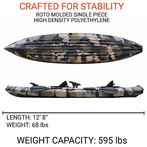 Useful UH-TK181 12.5 foot Sit On Top Tandem Fishing Kayak