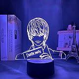 Yagami Light Figure Acrilico LED Night Light Regalo anime Death Note Lampada per bambini Arredamento camera da letto Illuminazione Camera per bambini Luce notturna