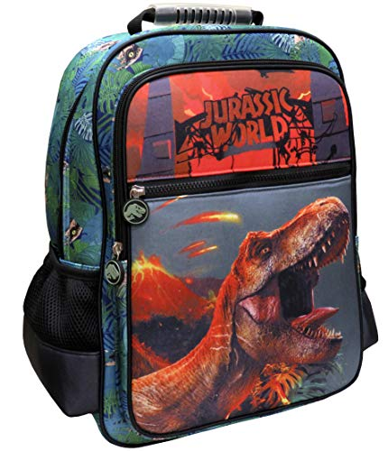 CYP BRANDS Jurassic World MC-32-JW Mochila adaptable a trolley, Verde