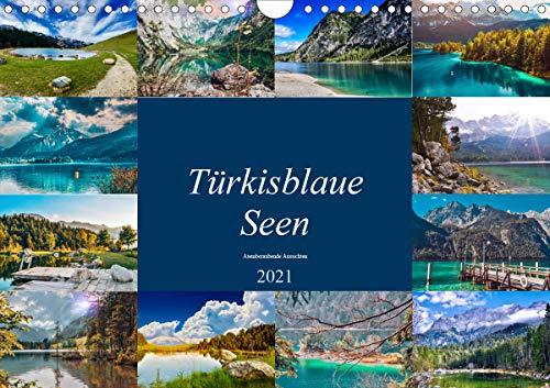 Türkisblaue Seen (Wandkalender 2021 DIN A4 quer)