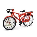 INFInxt Vintage Bicycle Model Clock with Photo Frame Desk Shelf Clock Creative Decorative Mantel Clock Great Gift