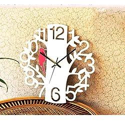 MUZIDP Woodpecker Clock,Digital Wall Clock Decorative Living Room,Personality Mute Porch Wall Decor Art Clock-C 16inch