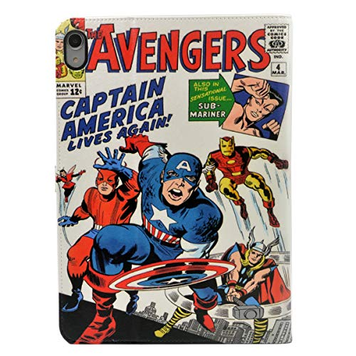 TPACC Case for iPad Pro 11-inch 2018 Release, Cartoon Comic Superhero Alliance Leather Flip Case Stand Case Shockproof Protector Cover for iPad Pro 11 Inch 2018