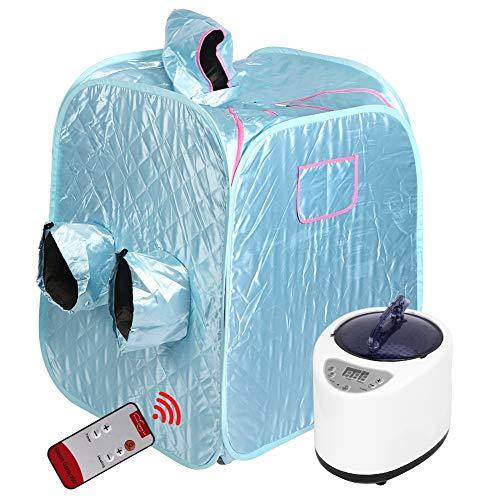 BHDD Tragbares Dampf-Sauna-Spa, faltbares wasserdichtes Saunazelt, 2-Personen-Sauna mit Fernbedienung, Aufbewahrungstasche zur Gewichtsreduktion, Entgiftung, Entspannung(EU)