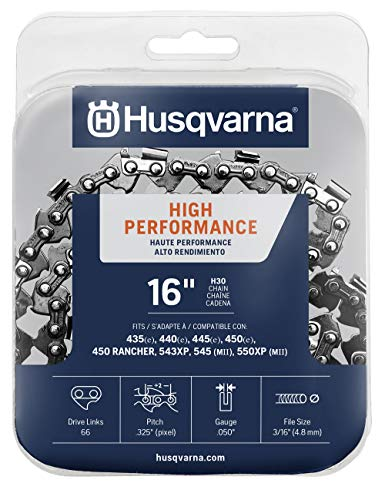 Husqvarna Chainsaw Chain 16' .050 Gauge .325 Pitch Low Kickback Low-Vibration