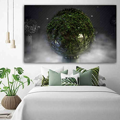 WHFLLDH poster muurkunst canvas schilderkunst landschapsdruk plant woonkamer decoratie wandafbeelding zonder lijst 60x95cm Unframe