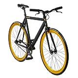 bonvelo Singlespeed Fixie Fahrrad Blizz Heart of Gold (Small / 50cm für Körpergrößen von 151cm...