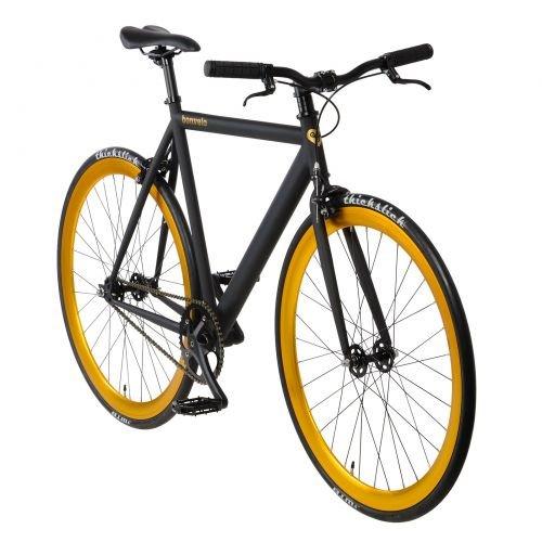 bonvelo Singlespeed Fixie Fahrrad Blizz Heart of Gold (Small / 50cm für Körpergrößen von 151cm bis 161cm)