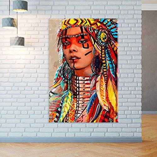 Tela Decorativa Pintura India
