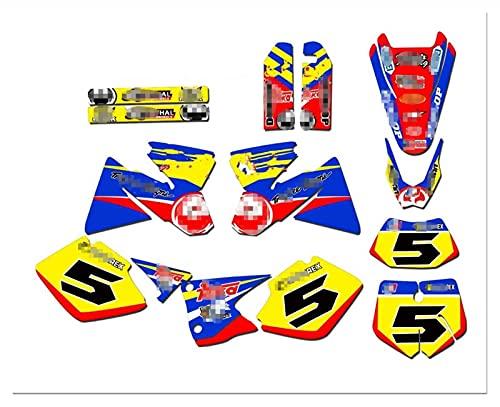 Tatumyin Motocicletas Gráficos Calcomanías Pegatinas Kits para K*T*M SX 125 250 380 400 520 2001 2002 hnszf (Color : Brown)