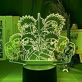 Anime Naruto Uzumaki führte Nachtlicht Team 7 Sasuke Kakashi Hatake Kinder Schlafzimmer Nachtlicht Itachi Uchiha 3d Lampe Japan Anime Charakter Geschenk