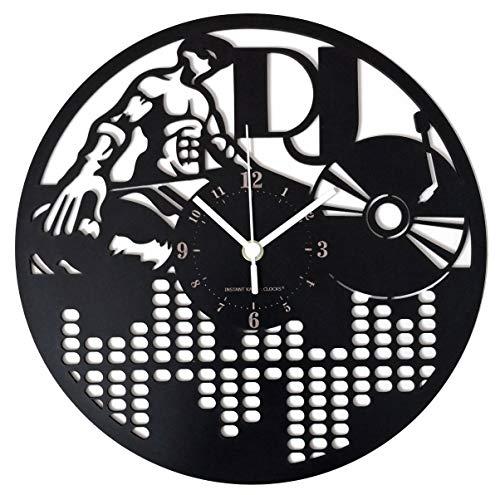 Instant Karma Clocks Reloj de Pared DJ Deejay Disco Música Plano Vinilo...