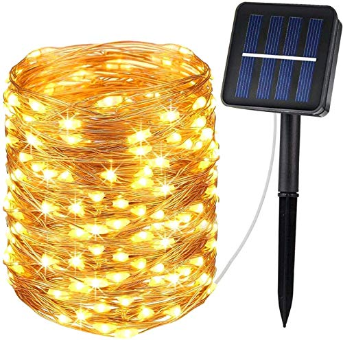 Kohree Solar Lights Indoor/Outdoor 120 LED 20FT Solar Garden Lights Fairy Lights Copper Wire Solar String Lights Waterproof Ambiance Lighting for Halloween Christmas Wedding Party Gardens Patios Home