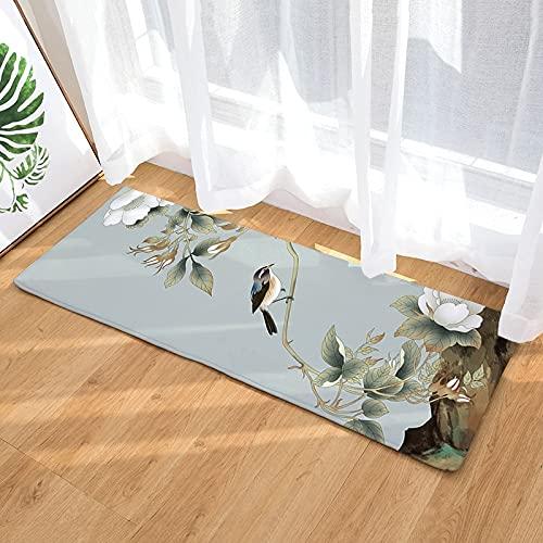 OPLJ Paisaje clásico con impresión 3D Piso de la Puerta de Bienvenida, Alfombra del Dormitorio de la Sala de Estar, Alfombra Lavable Antideslizante de la Cocina del baño A3 60x180cm