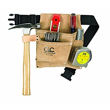 CLC IP489 X 3 Pocket Suede Tool Bag with Poly Web Belt