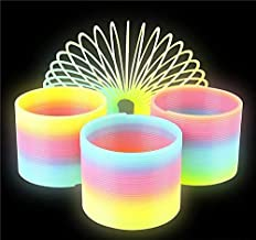 Rhode Island Novelty 80mm Glow in Dark Magic Coil Spng Pack of 10