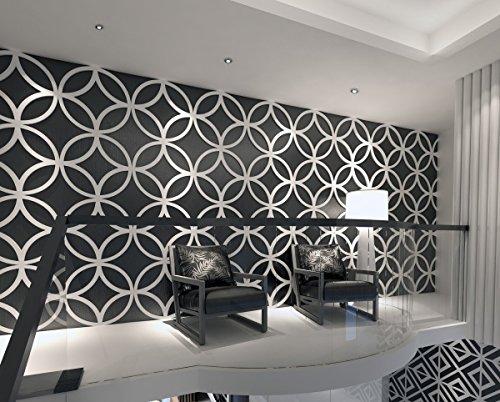 HomeArtDecor - Stars - 3D Wandpaneele - Wandpaneele - Geometrische Kunst - Wandverkleidung - Paneel - Dekorative Wandpaneele - 3D Fliesen