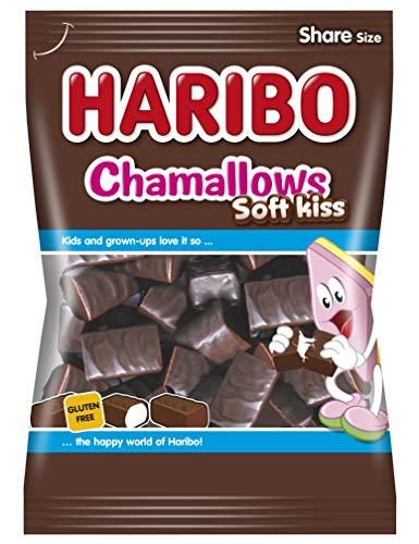 Haribo Chamallows Soft-Kiss Beutel, Schaumzucker mit Schokolade, 200 g