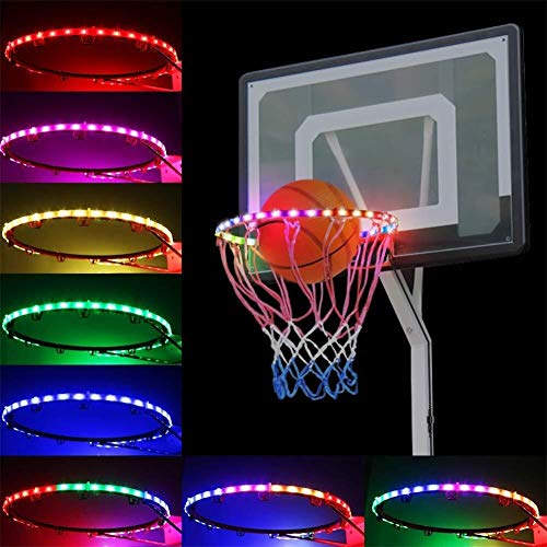 ADLIN LED Basketballkorb Lights - wasserdichter LED-Bügel for In Ground Power Lift Basketball System - Perfekt for das Spiel bei Nacht Im Freien