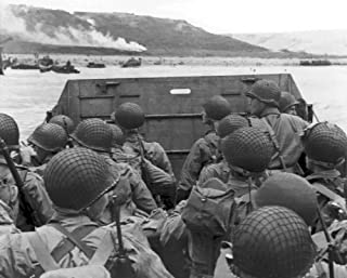 New 8x10 World War II Photo: Troops Prepare to Land at Normandy