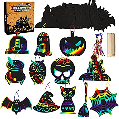 Amazon Promo Code for Fun Halloween Ornaments Rainbow Scratch Paper Art 48Pack 27092021083314