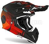 AIROH AVAN32 - Casco integral para moto, color naranja mate, AVIATOR ACE NEMESI SZ. XS
