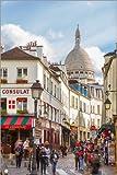 Poster 20 x 30 cm: Montmartre Blick auf die Straße mit