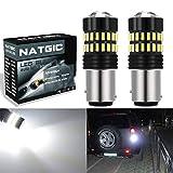NATGIC 1157 BAY15D 1034 7528 Ampoules LED Blanc xenon 1200LM 48-SMD 4014 LED avec...