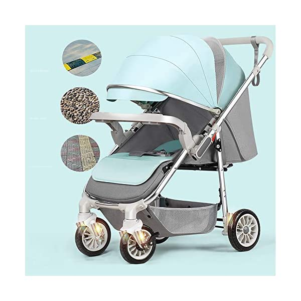 3-in-1 Adjustable Stroller The Stroller Can Be Converted into A Chair That Can Be Turned and Tilted High-Quality Foldable and Portable New Baby Multifunctional Strollercool and Breathable Stroller Makeups Function: 3 in 1; color is blue; compatibility: 0-42 months baby; load capacity: 0-15 kg. Sit or lie down comfortably at home, shopping or traveling. Easy to fold: A case that can be easily and quickly folded with only one hand. The size is reduced, which is ideal for travel and trunk space. The seat can be flipped, the baby can face you or on the street; the car seat can be divided into 3 levels of tilt: 100°-145°-180° (sitting, tilting and sleeping). 2