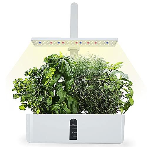 FUJGYLGL Indoor Smart Herb Garden Flower Pot Kit Indoor Hydroponic with USB Line