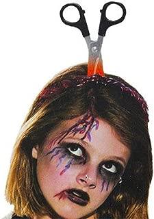 HUIMEIS AU Halloween Horror Props Knife Head Horror Whole Person Plastic Bleeding Head Saw Shaft Needle Makeup (Color : A*2)
