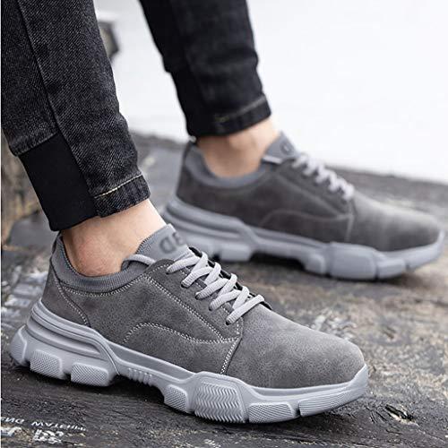 Zapatos de seguridad A prueba de agua zapatos de trabajo de seguridad, de microfibra de cuero con cordones bajo-top zapatillas de deporte, zapatos de dedo del pie de acero Cap de Trabajo de protección
