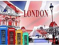 DIY 5D彼のロンドンへの大人のダイヤモンド塗装キットの子供の家の装飾オフィスの贈り物